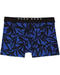 BOSS by HUGO BOSS ブルー & ブラック プリント ボクサー ブリーフ 2 枚セット