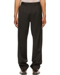 Bianca Saunders Twisted Tailored Trousers - Black
