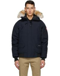 Canada Goose Navy Down Chilliwack Bomber - Blue
