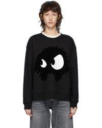 McQ ブラック Mcq Swallow Chester Monster スウェットシャツ