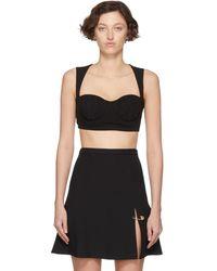 Versace - ブラック メドゥーサ ブラ - Lyst