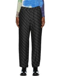 Ambush ブラック ビスコース New Pajama ラウンジ パンツ