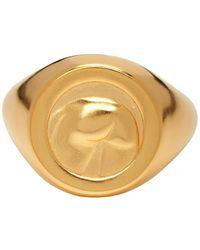 Ludovic de Saint Sernin Gold Bottom Ring - Metallic