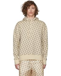Gucci - White All Over Logo Stamp Hoodie - Lyst