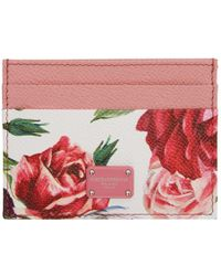 Dolce & Gabbana - Pink Peonies Card Holder - Lyst