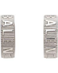 Balenciaga シルバー Force Striped ピアス - メタリック