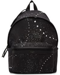 Saint Laurent Black Canvas Galaxy City Backpack