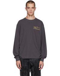 Alexander Wang T-shirt a manches longues noir Rodeo Drive Platinum