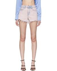 Alexander Wang Pink Denim Bite Shorts - Multicolour
