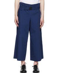 132 5. Issey Miyake Navy Washi Pants - Blue