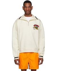 KENZO Off-white Jumping Tiger Zip Pullover