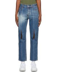 ADER error Collage Pollshing Jeans - Blue