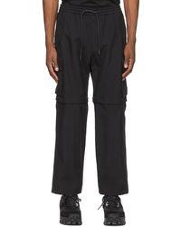 Juun.J Black Cordura® Detachable Knee Cargo Pants
