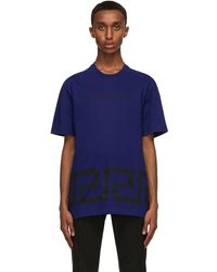 Versace Blue Greca T-shirt