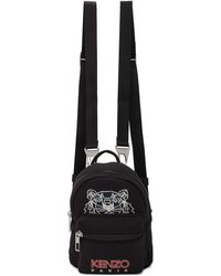 KENZO Black Mini Neoprene Kampus Backpack