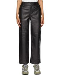 032c Leather Work Trousers - Black
