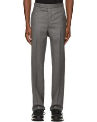 Thom Browne Grey Little Boy Backstrap Trousers