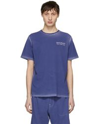 Saturdays NYC - Ssense Exclusive Blue Logo T-shirt - Lyst