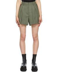 Sacai Short plissé kaki Suiting - Vert