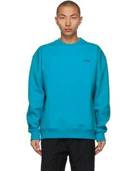 ADER error ブルー オーバーサイズ スウェットシャツ