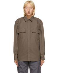 GR10K Taupe Klopman Shirt Jacket - Brown