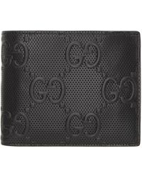 Gucci - Black ' Signature' Tennis Bifold Wallet - Lyst