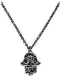 Vivienne Westwood ガンメタル Rojava ネックレス - ブラック