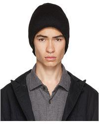 Engineered Garments ブラック ウール ニット ビーニー