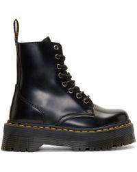 Dr. Martens - Black Jadon Platform Boots - Lyst
