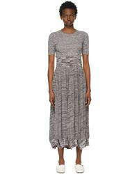 Christopher Esber ブラウン Deconstruct Cocoon Tee ドレス