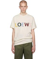 Loewe オフホワイト シルク カット T シャツ