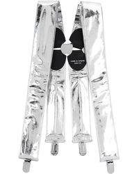 Comme des Garçons Silver Metallic Suspenders