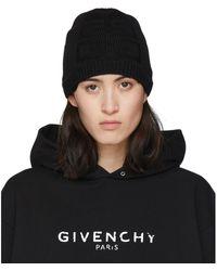 Givenchy Black Knit 4g Beanie