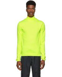 Juun.J - Yellow Turtleneck Sweater - Lyst