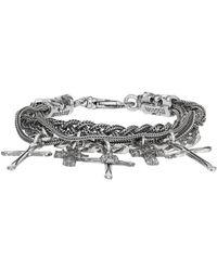 Emanuele Bicocchi Silver Cross Charm Bracelet - Metallic
