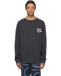 Ksubi Grey Super Nature Long Sleeve T-shirt - Black