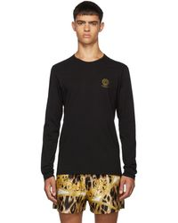 Versace Black Logo Long Sleeve T-shirt