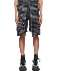 Youths in Balaclava Black Denim Flannel Godstar Shorts
