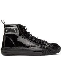 Valentino Garavani コレクション ブラック Vltn ハイトップ スニーカー