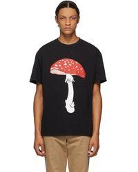 JW Anderson ブラック Mushroom T シャツ