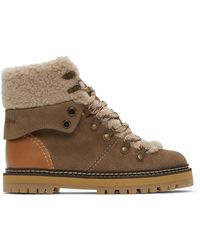See By Chloé Taupe Eileen Ankle Boots - Brown
