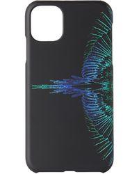 Marcelo Burlon ブラック & ブルー Wings Iphone 11 ケース