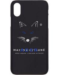 Maison Kitsuné Ader Error Edition ブラック フォックス Mustache Iphone X ケース