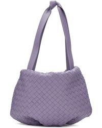 Bottega Veneta Purple Small Intrecciato Bulb Bag