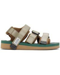 Suicoke Khaki Kisee-v Sandals - Green