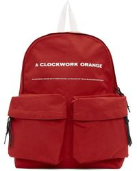 Undercover レッド A Clockwork Orange プリント バックパック