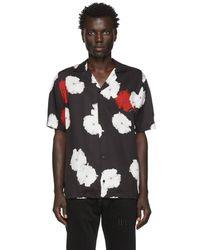Saturdays NYC Canty Moon Flower-print Twill Shirt - Black