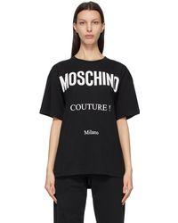 Moschino - ブラック Couture! T シャツ - Lyst