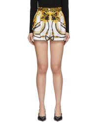 Versace マルチカラー シルク バロッコ ロデオ ショーツ