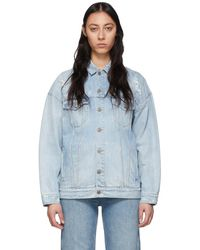 Givenchy ブルー デニム オーバーサイズ ジャケット